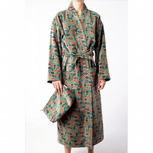 Printed Cotton Velvet Robe - Bundi Silex